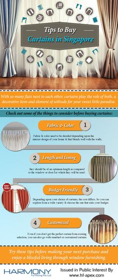 Just by keeping certain tips in mind before making your next purchase, you can enjoy a blissful living through window furnishing. Check out the infographic to know about those tips.