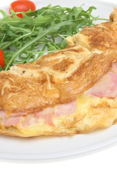 Ham and Parmesan Cheese Omelet (Weight Watchers)