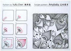自創圖樣-020 Amybaby 艾咪寶貝 tangle pattern