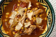 Crock Pot Chicken Tortilla Soup (from Framed Cooks)