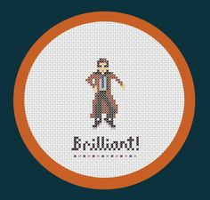 The 10th Doctor (David Tennant) - Doctor Who inspired PDF cross stitch pattern. $2.50, via Etsy.