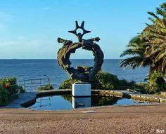 Plaza Virgilio en Punta Gorda y las vistas hacia el Río de la Plata