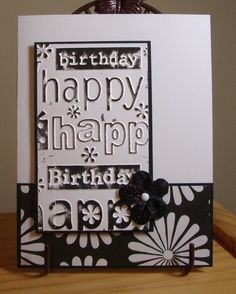 I wonder how this would look with the Alphabet Press embossing folder and a Stampin Up DSP ? Simple embossed black and white card