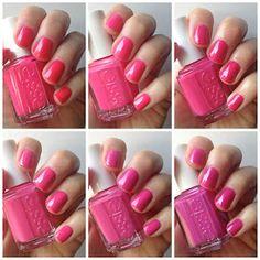 Essie Envy: Essie Hot Pink Comparison : Lights, Bottle Service, Fiesta, Pansy, Mod Squad