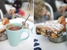 "at a local cafe in Paris.  From the life I want to lead, blogged by ""ohhappyday"""