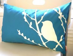 Cherry Blossom Pillow by joom on Etsy.  I bought this for my house 3 years ago!