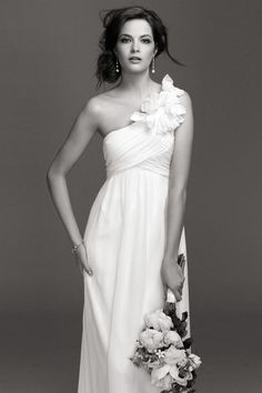 I love the one-shoulder dress style.