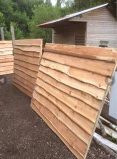 Waney Edge Larch Cladding Boards 3 metre lengths various thickness barns fences