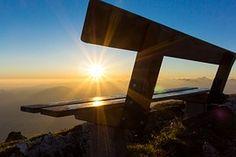 日の出, 山, 朝, Morgenrot, Outlookの