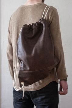 Leder Turnbeutel Vintage // Leather Gym bag #Turnbeutel #Gymbag #Bagpack #Vintage