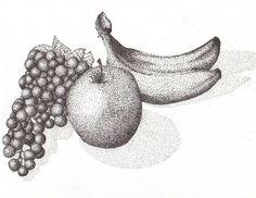 Fruit Composition Pointallism