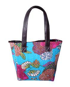 Kantha Handmade Cotton Bag Women s Shoulder Girl Shopping Hobo Tote Bag f3566bfa3d050