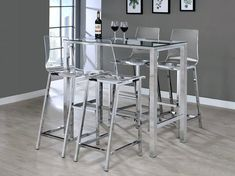 Image result for counter height table glass