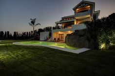 Luxury frontline golf villa for sale in New Golden Mile, Estepona, with many features overlooking La Resina Golf.  https://www.crystalshore-properties.com/en/listing/spain/estepona/new-golden-mile/villa/4354/
