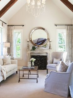 Traditional Living Room Painted In Elmira White By Benjamin Moore   New  Living Room Color (