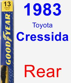 Rear Wiper Blade for 1983 Toyota Cressida - Premium