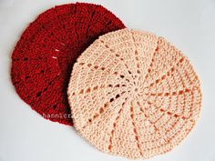 Simple beret crochet pattern
