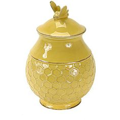 @Overstock.com - Add country charm to any kitchen decor with a bumblebee canister  Ceramic canister is available in honey color option  Kitchen storage unit has a bee on the lid and a honeycomb pattern on the basehttp://www.overstock.com/Home-Garden/Bumblebee-Canister/3908747/product.html?CID=214117 KRW              42491.00