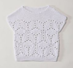 Collection and tips for hobbies Pull Crochet, Crochet Tank, Knitted Tank Top, Learn To Crochet, Knit Crochet, Diy Artwork, Summer Knitting, Textiles, Crochet Clothes