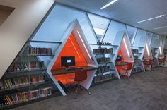 Randwick Library, Sydney, Australia. I love the look of this, but I don't think students work individually that much anymore. It's all about collaboration.