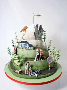 Anniversary cake - This would be cool with highlights of your lives together.