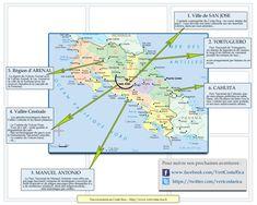 Carte des excursions au Costa Rica du blog Vert Costa Rica