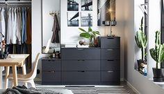 Smart solutions for selective shoppers Modular Furniture, Home Furniture, Diy Room Decor, Bedroom Decor, Home Decor, Ikea Hallway, Ikea Nordli, Apartment Projects, Bedroom Storage