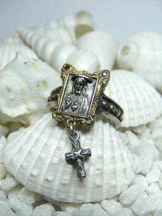 Jesus Rosary Ring.