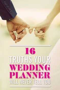 WEDDING PLANNING TIPS: Here are the biggest secrets your wedding planner will never tell you so you can be ahead of the game with useful insider knowledge. Here you'll find useful wedding ideas that will help you save money, plan a wedding on a budget, organize everything for the big day, and more. Click through for the best *insider* wedding ideas and tips from an experienced wedding planner.