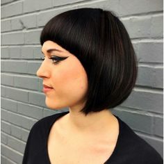 This classic cut was created by Master Stylist Alicia. It was inspired by using Vidal Sassoon classic cutting techniques! #salonestique #bob #uptownplaza
