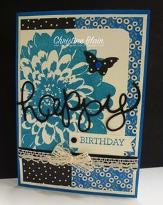 HAPPY HEART CARDS: STAMPIN' UP! DEFINITELY DAHLIA IN PACIFIC POINT