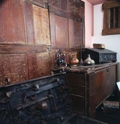 Furniture from a Tudor period house, Abergavenny