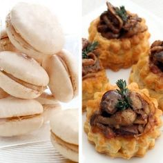 A beautiful French Duo of Chicken liver and mushroom tartlets with spiced white chocolate macaroons served up by Andanté Wiehahn Chocolate Macaroons, Cooking Competition, Chicken Livers, Fabulous Foods, White Chocolate, Spice Things Up, My Recipes, Nom Nom