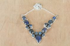 Wholesale Birthstone Silver Jewelry #Labradorite Gemstone #Necklace for Women,by Brillante Jewelry Made from 92.5 sterling Silver #Labradorite Gemstone #Necklace. And by using Natural Gemtones..Pick this #Necklace to add new definition to your Personality.About the Brand-Associated with Glamour,style and class,Brillante–Jewelry fashion jewelry appeals to,women across all age-groups.