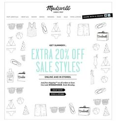 Great graphic usage for a Sale email, esp when we can't show specific styles due to inventory