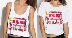 Up All Night Song Lyrics Shirt PREORDER by StylesShop on Etsy, $26.00