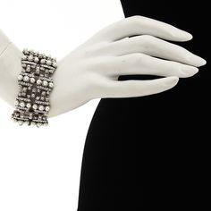 """Peter Lang """"Lulu"""" pearl and swarovski bracelet"""