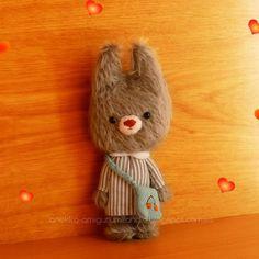 Little teddy bear mohair plush, plush toy , mohair animal, teddy bear, art teddy bears, Amigurumi mohair,
