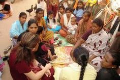 We trained villagers woman for their self-help.