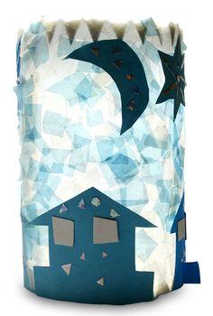 Häuser bei Nacht von Dana (8) Summer Crafts For Kids, Summer Kids, Art For Kids, Crafts To Do, Arts And Crafts, Paper Vase, Kids Prints, Infant Activities, Kindergarten