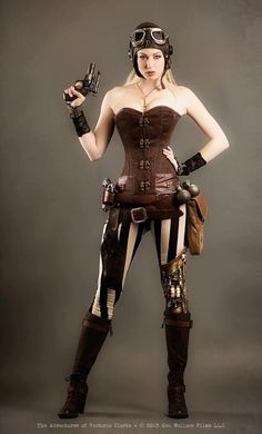 #Steampunk Tendencies |Steampunk-inspired web series project, : The Adventures of Victoria Clarke http://steampunktendencies.tumblr.com/post/48207316666/steampunk-tendencies-corset-sexy-girl-victoria-clarke: