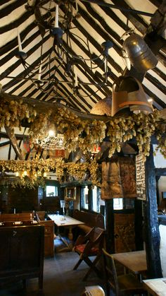 """Interior of historic 'The Royal Standard of England Pub' ~ the alehouse was called the '""""The Ship Inn"""" and is noted in 1213 in the Penn Trinity Church Records, Beaconsfield, England"""