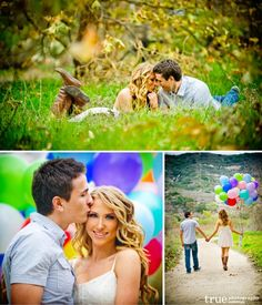 engagement shoot with balloons:)