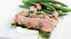 Carpaccio de marlin bleu à l'aneth et salade de haricots verts | Recettes | Signé M