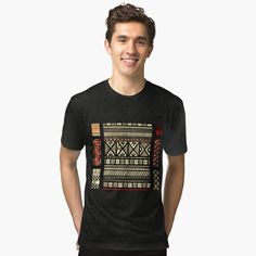 Best Dad Gifts, Cool Gifts, African Mud Cloth, My T Shirt, Female Models, Beige, Printed, Awesome, Fabric