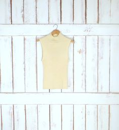 90s vintage metallic gold stretch ribbed knit mock turtleneck pullover top/sleeveless fitted shell/Victor Costa by GreenCnynMercantile on Etsy