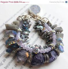 ON SALE chunky bracelet multi strand bracelet by soulfuledges, $54.99