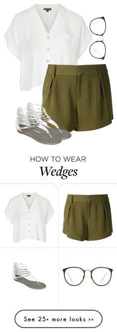 """""""Sans titre #110"""" by claraaag on Polyvore featuring Topshop, Alice + Olivia and Linda Farrow"""