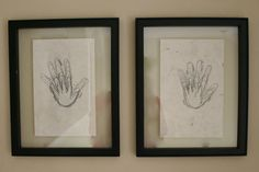 Childs hand traced every year in the same month. Keep it framed to remind you of how much they've grown.
