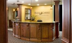 front office front desk commercial design office designs desks dental